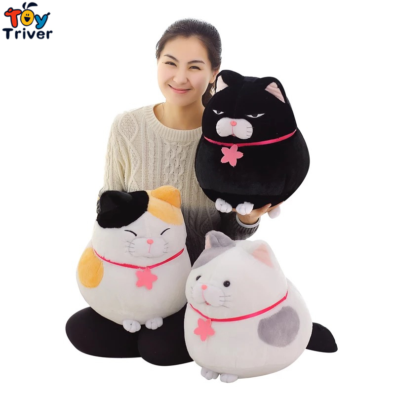 Kawaii stuffed plush lucky cats japan fortune cat toy doll baby girl boy kids birthday gift shop home deco Maneki Neko Triver cute lie prone dog long pillow cushion bolster plush toy stuffed doll baby kids friend birthday gift home shop decor triver page 2