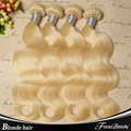 "Blonde Brazilian Hair 4Pcs Lot Brazilian Virgin Hair Body Wave 12""-30"" Color 613 Platinum Blonde Virgin Hair Weaving"