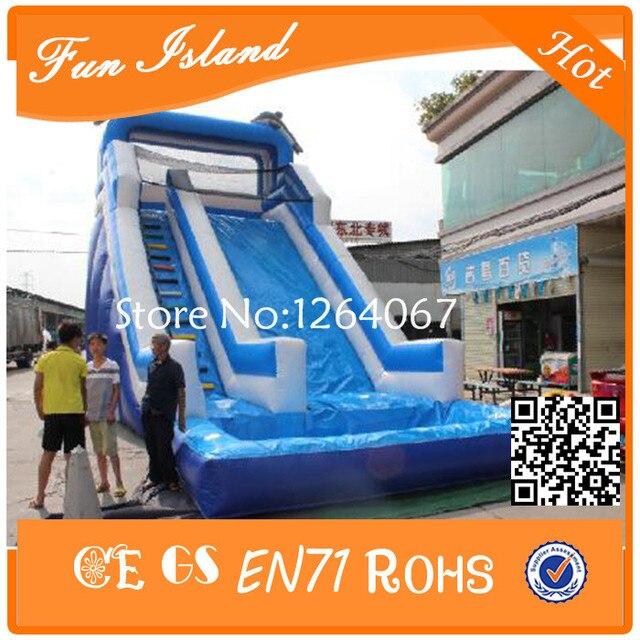Бесплатная Доставка Гигант Надувные Слайд, надувные Водные Горки С Бассейном