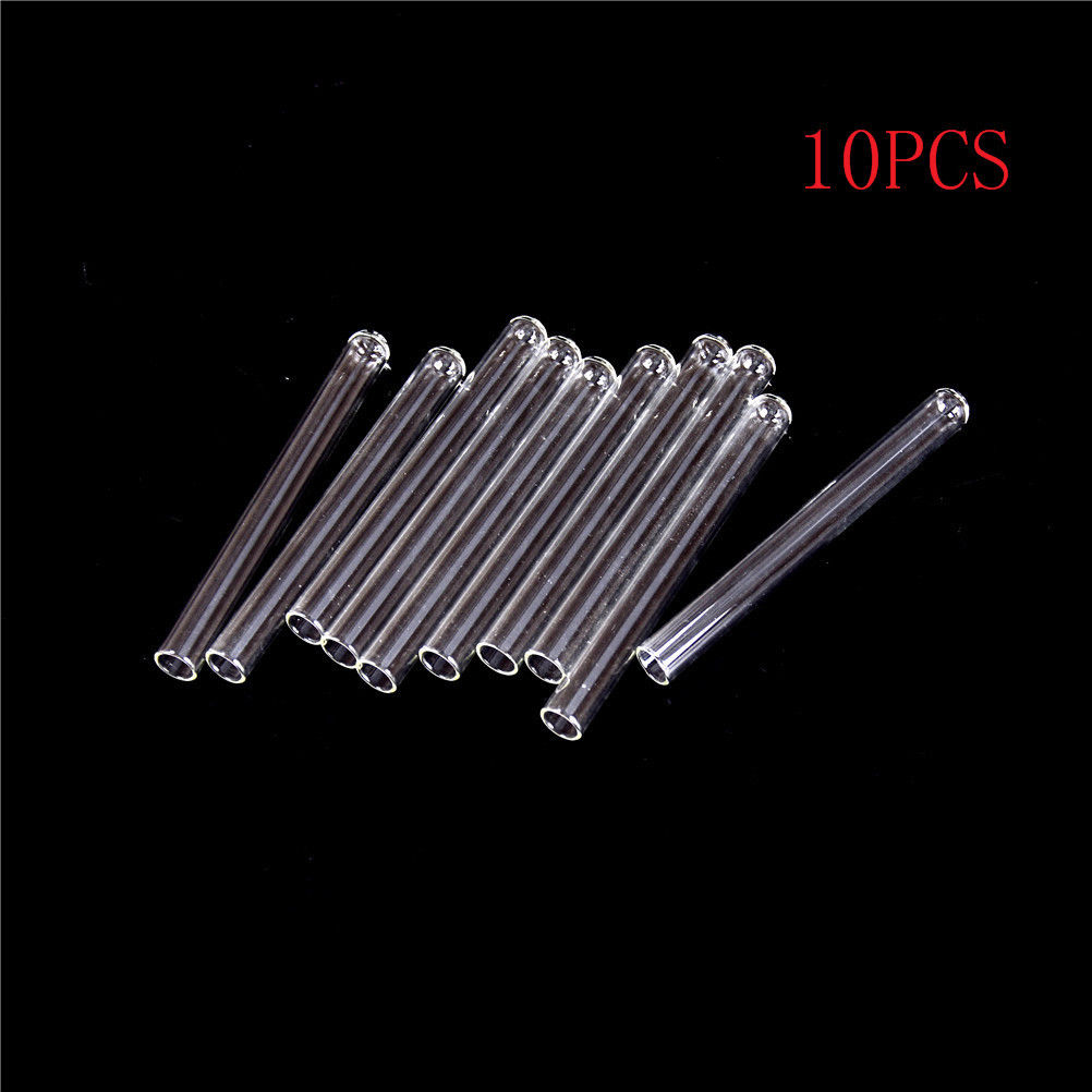 10pcs 10*100mm Test Tube Transparent Pyrex Glass Blowing Tubes Thick Wall Laboratory Round Bottom Test Tube