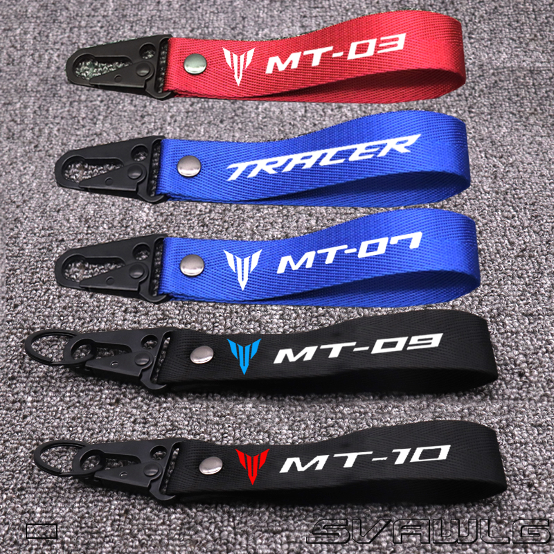 3D  Key Holder Chain Collection Keychain For Yamaha MT 03 07 09 10 FZ07 FZ09 Tracer FJ Universal Motorcycle Badge Keyring