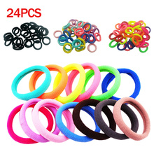 24pcs/lot Mix Color Elasticity Hair Rings Hair Rubber Bands Ponytail Holders Seamless Gum Hair Accessories For Girl Women