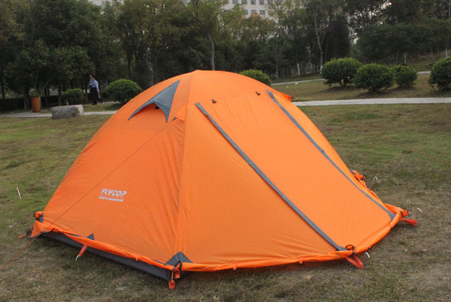 Good quality Flytop double layer 2 person 4 season aluminum rod outdoor c&ing tent Topwind 2 : 4 season 2 person tent - memphite.com
