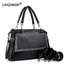 Lanzhixin Hot 2017 Brand Leather Luxury Handbags Women Bags Designer Shoulder Bags Casual Tote Ladies Handbags Women 1168