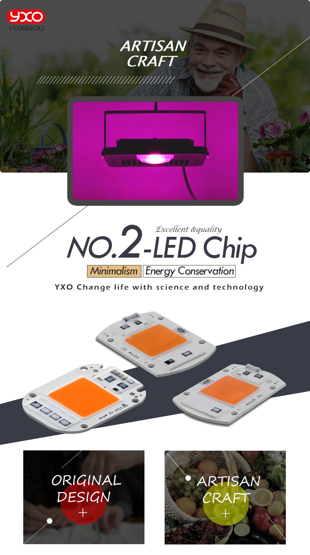 1 шт. светодиодный светильник для выращивания 20 Вт, 30 Вт, 50 Вт, 230 В, полный спектр, 380нм~ 780нм, лучший для гидропоники, теплицы, сделай сам, светодиодный светильник