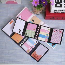 Kawaii животные блокноты маркер стикер заметки милые заметки блокноты канцелярские бумажные стикеры школьные принадлежности
