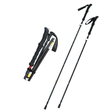 Nature Hike Aluminum Alloy Walking Sticks 4 Section Adjustable Canes Foam Handle Trekking Pole Adjustable Alpenstock
