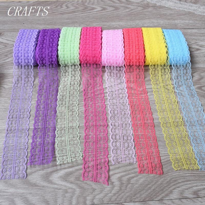 New! Wholesale 5-10 Yards Beautiful Lace Ribbon, 45mm Wide, DIY Jewelry, Clothing, Wedding, Floral Accessories