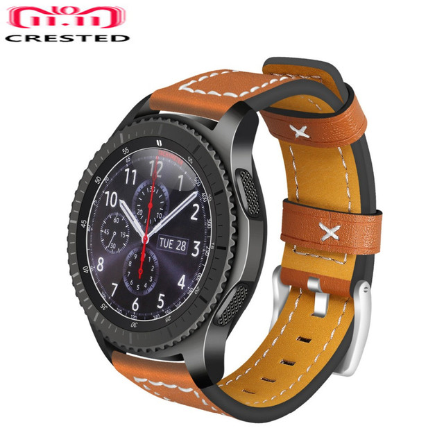 CRESTED Gear S3 frontier strap For Samsung Galaxy Watch 46mm S 3 classic 22mm le
