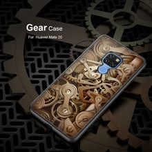 Temepred glass case for Huawei mate 20 Original Nillkin gear cover on