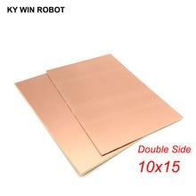 1 шт. FR4 PCB 10*15 см двухсторонняя медная плакированная пластина DIY PCB Kit ламинированная печатная плата 10x15 см 100x150x1,6 мм