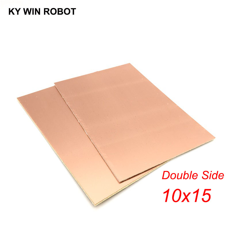 1 Pcs FR4 PCB 10*15cm Double Side Copper Clad Plate DIY PCB Kit Laminate Circuit Board 10x15cm 100x150x1.6mm