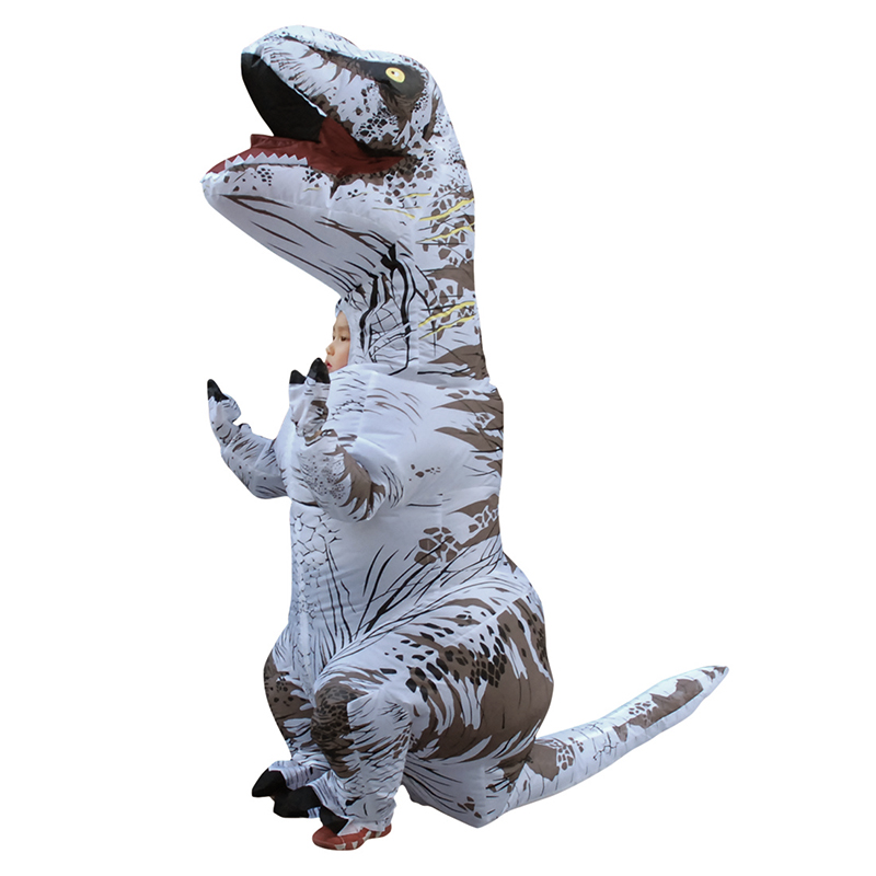 Inflatable Dinosaur costume for kid Ride on horse Fancy party dress Halloween cosplay T-rex costumes for kids