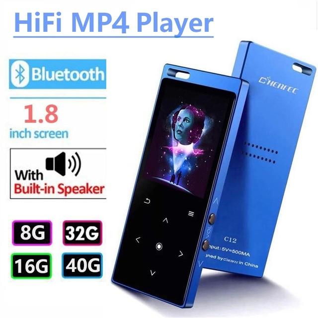 Bluetooth4.2 MP4 Người Chơi với Loa Màn Hình 1.8 inch Cảm Ứng Nút MP4 Video Hỗ Trợ Nghe FM, Ghi Âm, thẻ SD Lên đến 128 GB