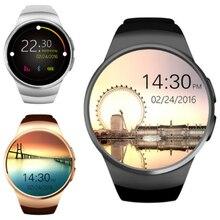 KW18 homem Telefone smartwatch Bluetooth Relógio Inteligente da Frequência Cardíaca para a apple IOS Android huawei Tela Cheia Suporte SIM Card TF