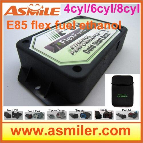 E85 conversion kit 4cyl 6cyl (пластиковый корпус)-холодный старт Asst, flex топлива, комплект этанола e85, superethanol DHL Бесплатная цена