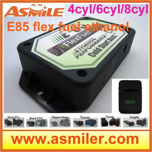 e85 conversion kit 4cyl 6cyl (plastic case)-- Cold Start Asst, flex fuel, kit ethanol e85, superethanol DHL free price
