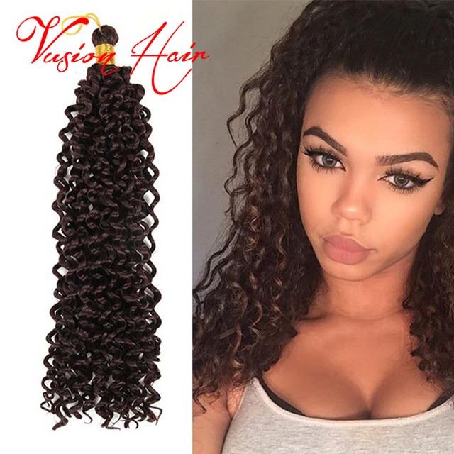 Freetress Deep Twist Water Wave Crochet Braids Hair 14 Inch Water