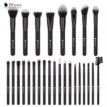 DUcare 27PCS Makeup Brushes Set Foundation Eyeshadow Powder Brush Professional Goat Hair Brushes for Makeup Cosmetic Tools Kit(China)