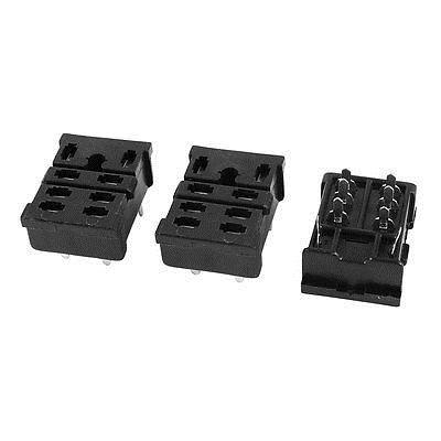 Подробнее о 3 Pieces Black 8 Pin Auto Car Electromagnetic Relay Socket Base Holder 13F-2Z-A2 free shipping 2pcs 8 pin power timer relay socket base holder p2cf 08 for h3cr 08