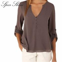 2016 off shoulder long sleeve v neck women s tops summer style solid blusas femininos women.jpg 250x250