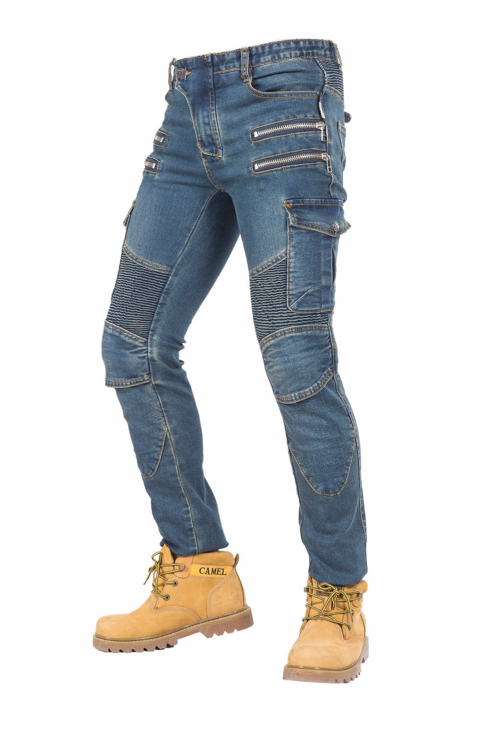 Rock biker motorcycle locomotive racing knight straight jeans jumper pants off the road motorcycle racing riding straight pants rock biker shop genuine 2017 new slim camouflage riding jeans motorcycle jeans multifunction denim shorts pants unisex