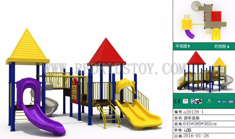 Exportado al patio De Juegos al aire libre De Ecuador aprobado por la CE Parque De Juegos Infantil a20128