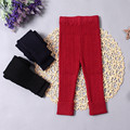 Fall Winter Girl Cotton Knitted Pant Infant Children Thick Warm Skinny Legging Toddler Solid Twist Trouser Baby Kids Bottom Pant