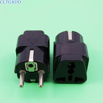 cltgxdd Universal 3 pin AC Germany Power Plug Adapter Travel Converter Australia UK USA EU