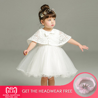 2018 New 1 Year Birthday Baby Girl Dresses For Baptism Infant Princess Lace Christening Gown Newborn Toddler Bebes Clothes