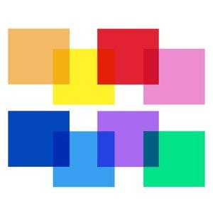 Image 3 - Uniwersalny zestaw 30x30 cm z 8 przezroczystym filtrem żelowym do korekcji kolorów na akcesoria do studia fotograficznego