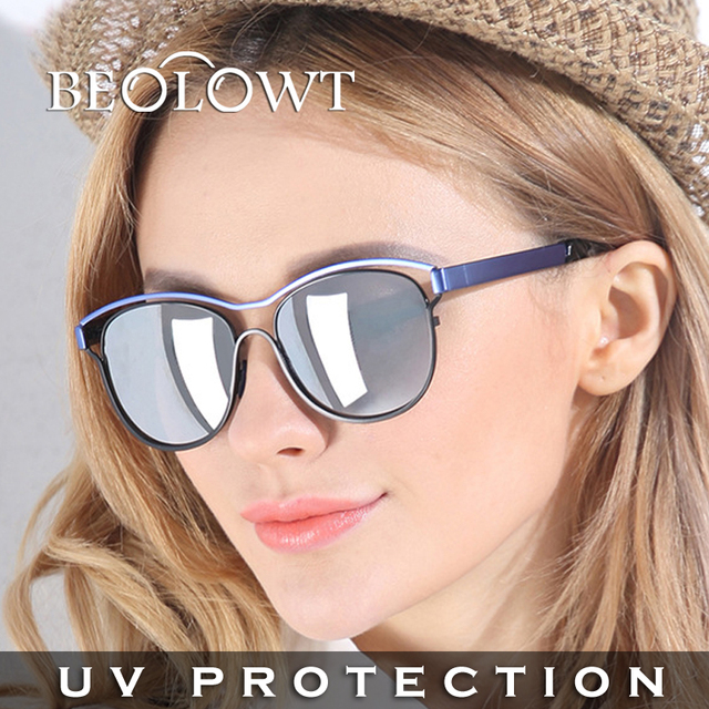 BEOLOWT brand women's  men's UV400  Sunglasses Driving Aluminum Magnesium Alloy Sun Glasses for women  with Case Box BL491
