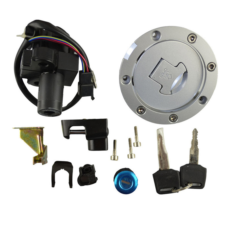 Motorcycle Ignition Switch Lock Fuel gas Tank Cap Cover Seat Handle Locks Include Key For Honda CB400 CB400SF CB-1 VFR400 стоимость