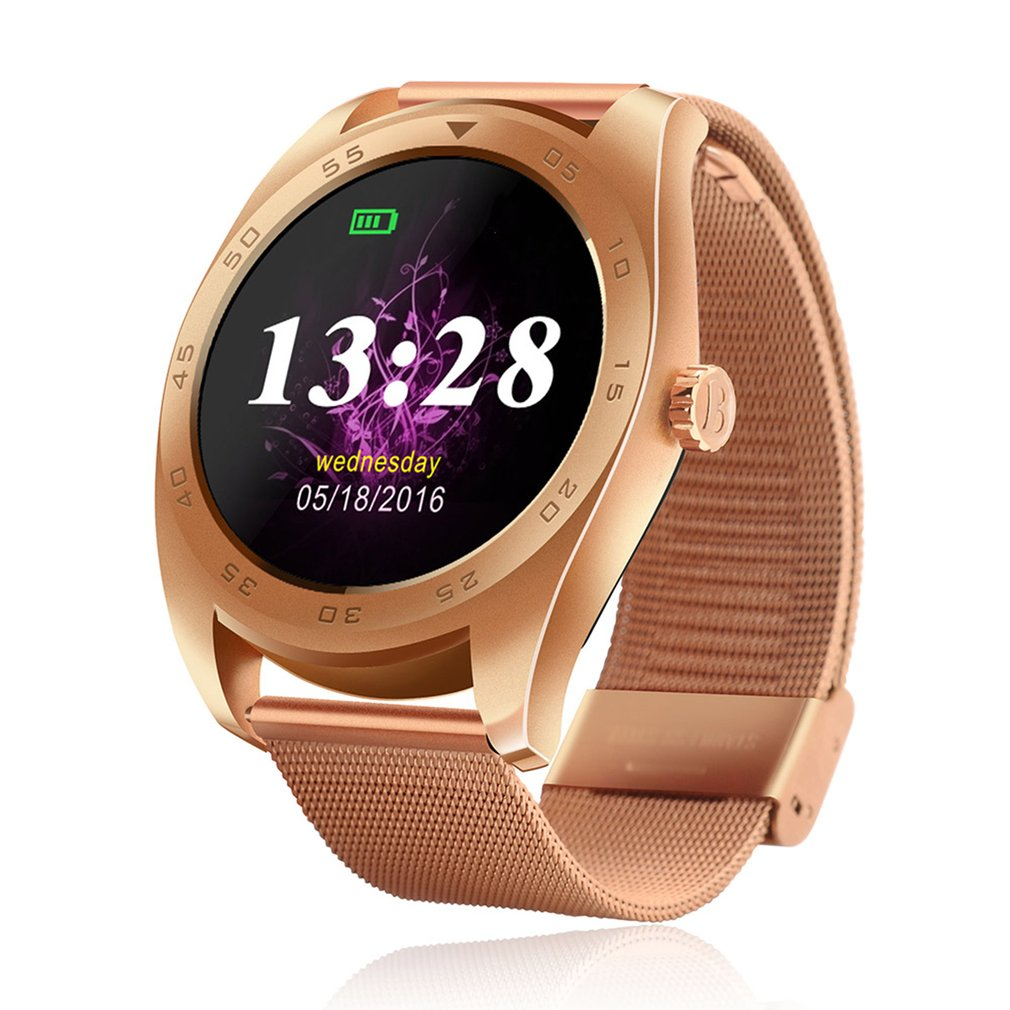 Smart Watch Bluetooth Call Message Reminder Sports Pedometer Anti-lost Heart Rate Monitor Steel Strap Smartwatch For Android IOS цена