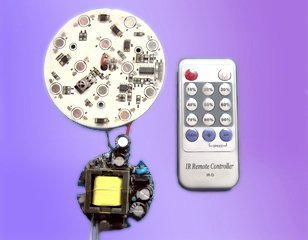 single color LED Dimmable driver with IR controller;AC85-265V input;3*4*1W(PAR38)output;can driver 9-12pcs leds;P/N:AT2630M