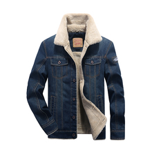M 4XL men jacket and coats brand clothing denim jacket Fashion mens jeans jacket thick warm