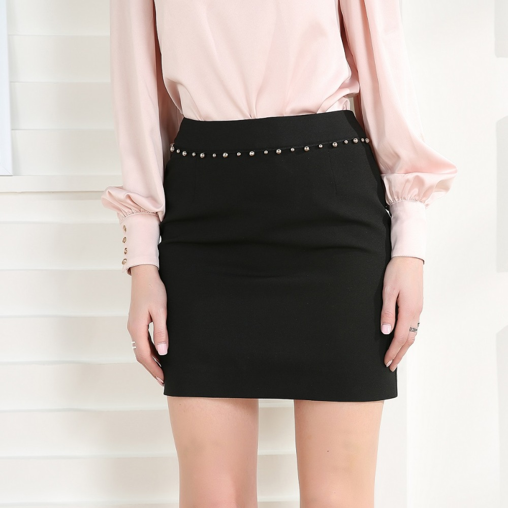 Women Summer Spring Black Pencil Mini Skirt Sexy Female Elegant Short Sheath Slim Office Lady Skirt Casual Fashion Work Skirts dabuwawa autumn women fashion sexy plaid skirt elegant mini pleated skirt short streetwear asymmetrical skirt d17csk031 page 2