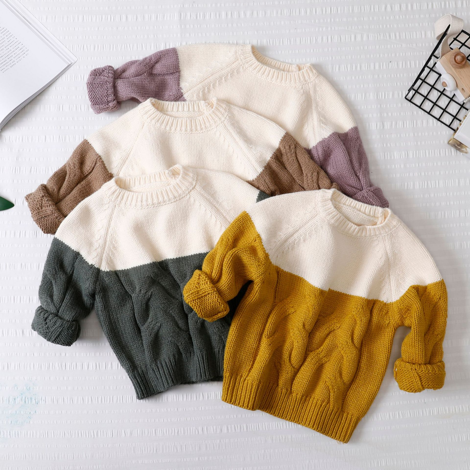 Children's Sweaters 2018 Autumn Winter New Kids Christmas Clothing Fashion O-neck Patchwork Knit Long Sleeve Pullover Sweaters women s sweater pullover 100% genuine goat cashmere women sweaters and pullovers knit round neck long sleeves thick sweaters
