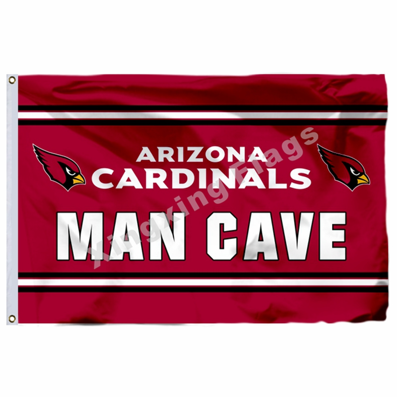 Arizona Cardinals Man Cave Flag 3ft X 5ft Polyester NFL1 Arizona Cardinals Banner Flying Size No.4 144* 96cm Custom Flag