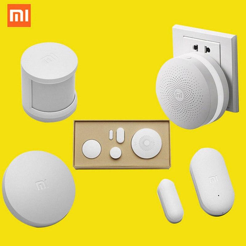 imágenes para Original xiaomi smart kit home gateway inteligente inalámbrico interruptor de control remoto sensor de puerta y ventana del sensor del cuerpo humano by app