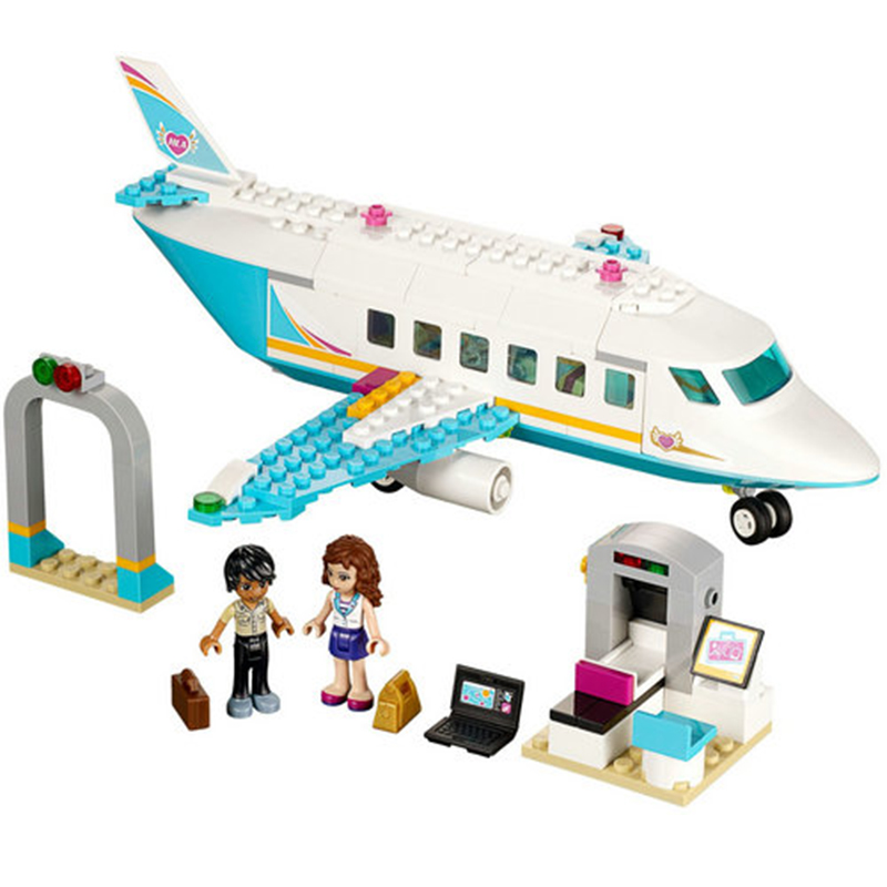 Girl Friends SY807 Heartlake Private Jet Building Block Plane Brick Olivia Matthew Compatible With Legoe 41100 Toys For Children