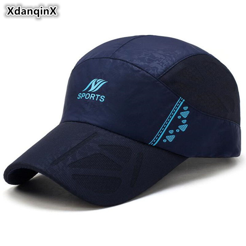 XdanqinX Summer Womens Ponytail Baseball Caps Snapback Cap Fashion Letter Breathable Tongue Adjustable Men Mesh Sports