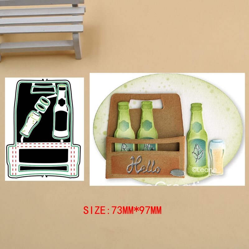 Beer Party Set Metal Cutting Dies Stencils For DIY Scrapbook Photo Album Paper Card Decorative Craft Embossing Dies New 2019