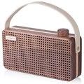 Sonmuse originais Retro Juglans Madeira Bluetooth Speaker box, X5 nogueira preta Portátil Alto-falantes Estéreo Sem Fio com Chamadas em Mãos Livres