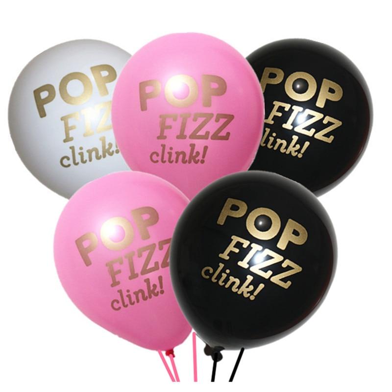 15pcs Pop Fizz Clink latex balloon, Engagement, Bridal Wedding Shower Food Picks birthday Kitchen Bar Funny party decorations