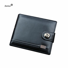 Black Leather Men Wallet Short Male Purse With Coin Pocket Card Holder Trifold Wallet Men Clutch Money Bag Hasp Wallet Wholesale joyir fashion wallet men genuine leather wallet men s purse long hasp wallet men clutch wallet bag money bag card holder