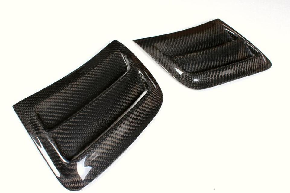 Углеродное волокно переднего бампера боковые воздушные крылья вентиляционные отверстия панели планки Крышка для Benz C-class W204 C63 AMG 2008-2011 автомобиль-Стайлинг