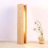 크리 에이 티브 led 테이블 램프 디 밍이 가능한 나무 책상 빛 usb 대나무 밤 빛 침실 침대 옆 독서 조명 홈 인테리어