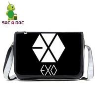 EXO Planet Messenger Bag Women Men Pu Leather Handbags Crossbody Travel Bag for Teenagers Boys Girls School Shoulder Bags