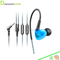 Dreamersandlovers MEE Audio Sport Fi S6P Memory Wire In Ear Headphones With Microphone Remote Volume Control